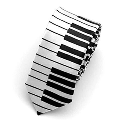 JOOFFF Krawatte Einfache Persönlichkeit Männer Casual Krawatte Kreative Klavier Nähen Kontrast Krawatte Cosplay Casual Lustige Krawatte Schwarz Und Weiß Zweifarbige Krawatte, 3#