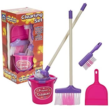 Kids Cleaning Set (Real) - includes dustpan, brush, mop, broom and bucket [Toy]