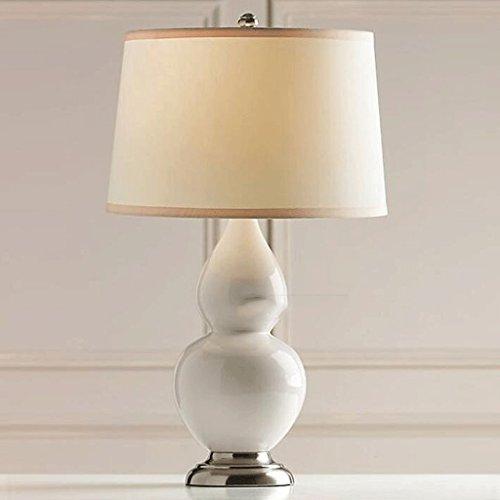 WTL Lighting Lampada da tavolo Bianco zucca in vetro Lampada da tavolo Lampada da comodino camera da letto Living Room lampada Lampada da scrivania ( colore : 1