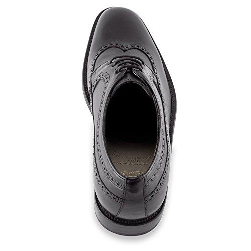 Masaltos Chaussures Réhaussantes Pour Homme avec Semelle Augmentant la Taille JusquÀ 7cm. Fabriquées en Peau. Modèle Lexter Noir