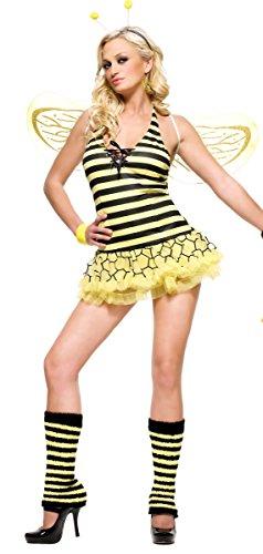 Königin Kostüm - SM - Gelb/Schwarz - 83261 (Leg Avenue Bienen Kostüme)