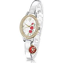 The Bradford Exchange - Lest We Forget - Reloj para mujer con amapolas inglesas - Oro de 22 ct y cristales de Swarovski