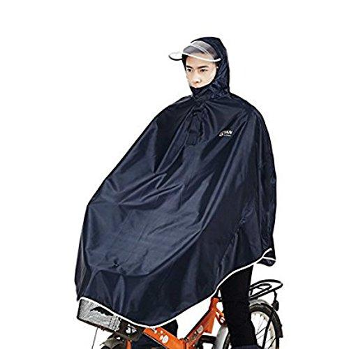 Tourwin Regenponcho für Camping Fahrrad Regenmantel Regenschutz mit Kapuze, Poncho, Schwarz