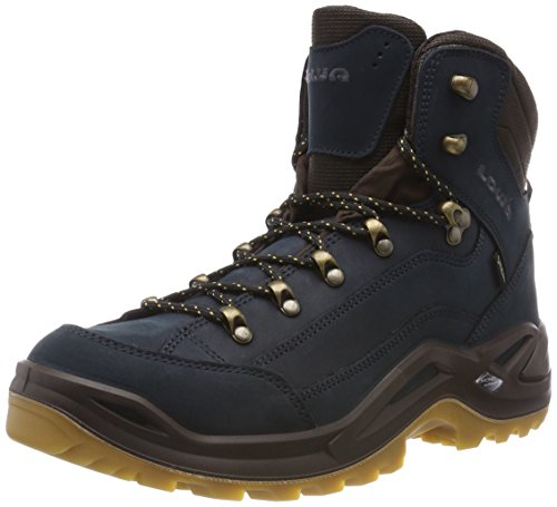 Lowa Renegade GTX Mid, Stivali da Escursionismo Alti Uomo, Blu (Navy/Honig