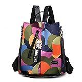 BAGLOVER Bolsos Mochila para Mujer Chica Adolescente Casual Moda Impermeable Nylon Anti-robo Colegio Viajar Trabajo (Multicolor)