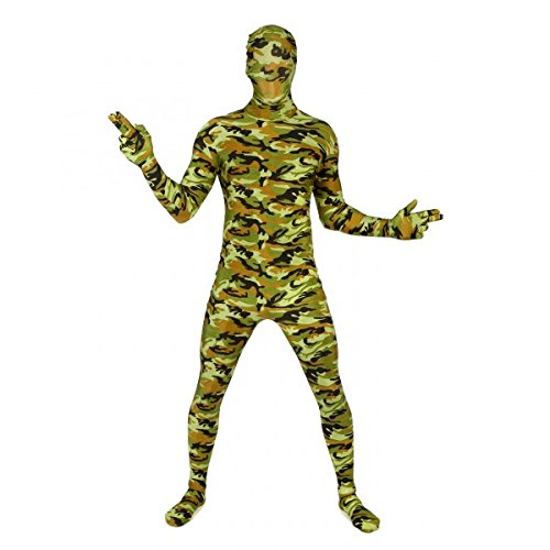 Camouflagemorphsuit Ganzkörperanzug Commandomorphsuit, Größe:XL