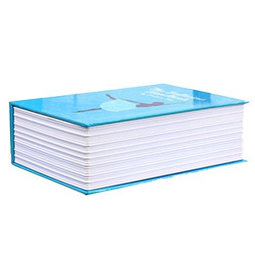 Mini Tragbare Wörterbuch Buch Stil Persönlichen Cash Geld Schmuck Geheime Sicherheit Tresor Geldkassette Code Sperre Case Aufbewahrungsbox Blau