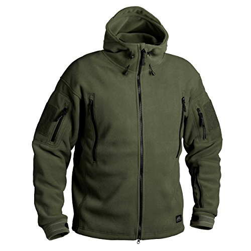 Helikon-Tex Patriot Jacke -Double Fleece- Olive Green, Oliv Grün, XL Beste Fleece-jacken