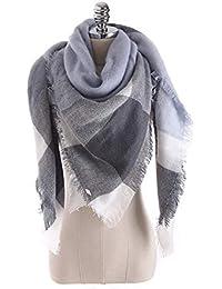 Aostar XXL Écharpe Femme, écharpe châle foulard étole pashmina en Cachemire  Chaud Automne Hiver Grand 0274c51f18e