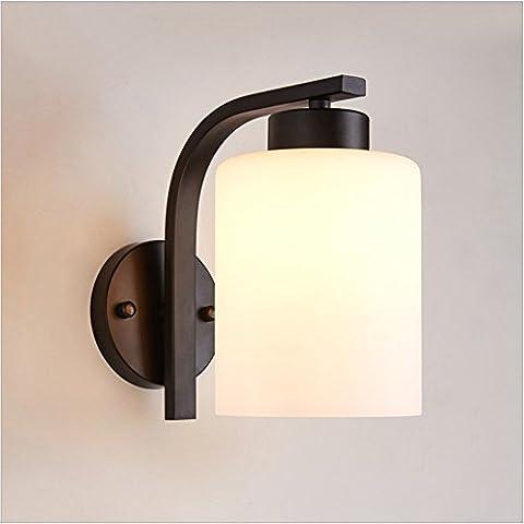 GZEDG Mur / petit mur / moderne lampe murale minimaliste / nuit salon chambre escaliers du couloir couloir sauver lampe murale LED / mur de la chambre des enfants / verre -H20 * L15 (cm)