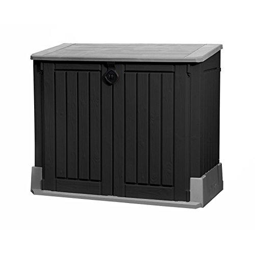Koll Living Mülltonnenbox/Aufbewahrungsbox mit 845 L Fassungsvermögen – 130 x 74 x 110 cm – Gartengeräte regensicher verstauen oder Mülltonnen unauffällig unterbingen – abschließbar