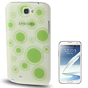 Bubble Pattern Fluorescent Effect Plastic Case for Samsung Galaxy Note 2 N7100(Green)