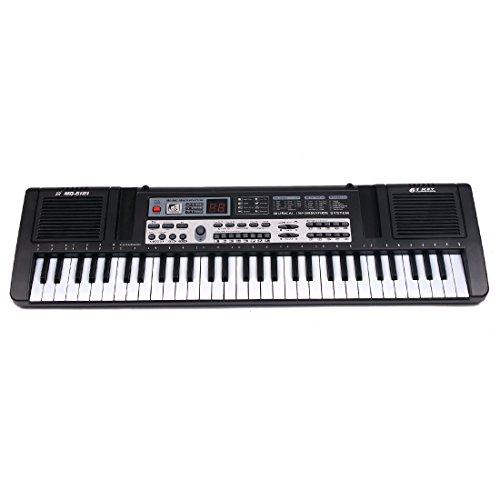 YAKOK Piano Enfant, 61 Touches Electrique Piano Bebe Clavier Keyboard avec Micro Jouet Musical pour Fille et Garcon 3-9 Ans, USB/ Batteries