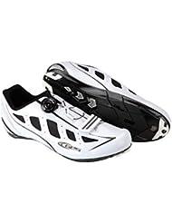 GES Speed Zapatilla de Ciclismo de Ruta, Hombre, Blanco, 41