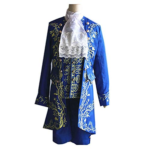 DXYQT Anime Cosplay Kostüm Prinz kostüm Halloween Kostüm Thema Party Performance Kostüm Spiel Uniform Student Bühnenkostüm für Jungen,Blue Suit-XXL (Goldlöckchen Kostüm Damen)