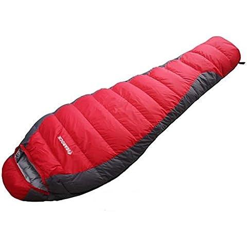 Adulti alpinismo corsa esterna anatra bianca sacco a pelo giù sacchi a pelo piumino ( colore : Red(1.8kg) )
