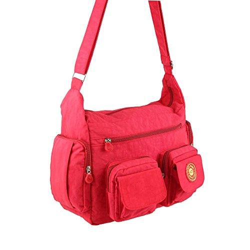 OBC Ital-design Unisex Erw. & Kinder Tasche Schultertasche Freizeit Shopper Umhängetasche (Rosa) Rosa