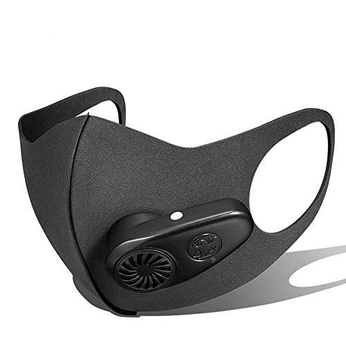 MUYIER Staubmaske Elektrische Atemschutzmaske, Elektrische Luftmaske N95 Sportmaske Mit Ventil-Luft-Haube Für Sport Im Freien PM2.5 Widerstehen Staubkeimen -