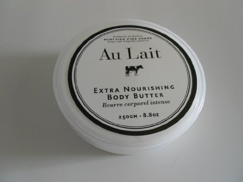 Scottish Fine Soaps Au Lait Extra Nourishing Body Butter - 8.8 oz. Jar by The Scottish Fine Soaps Company