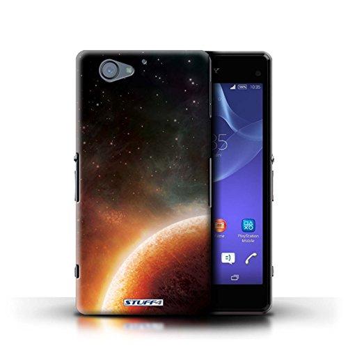 Kobalt® Imprimé Etui / Coque pour Sony Xperia A2 / Planète Pourpre conception / Série Cosmos Planète Orange