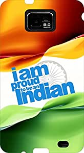 Incarnation I Am An Indian Slogan Uv Printed Galaxy S2 Back Cover & Cases