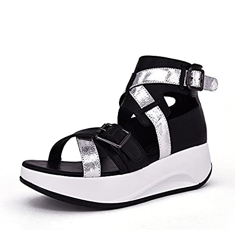 Dunhu Stylish Women's Strappy Sandals with Adjustable Buckle