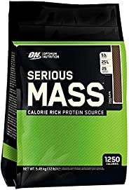 Optimum Nutrition Serious Mass Chocolate Flavor Powder, 12 Lbs