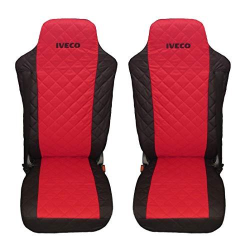 2+1 Blau Premium Gepolsterte Sitzbezüge Schonbezüge für Iveco