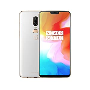 OnePlus 6 Smartphone (15,95 cm (6,28 Zoll) 19:9 Touch-Display, 128 GB interner Speicher, Android 8.1 Oreo/Oxygen OS 5.1), Silk White