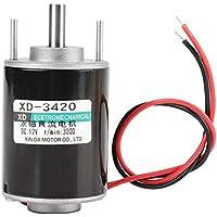 Motor eléctrico con corriente continua, 12/ 24V 30W Motor de corriente continua de imanes permanentes Motor eléctrico de bajo ruido ajustable
