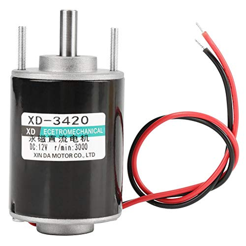 Gleichstrom-Elektromotor 12 / 24V 30W Dauermagnet-DC-Motor lärmarme Elektromotor-Geschwindigkeit justierbar(12V3000RPM)