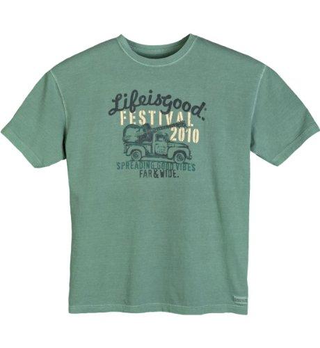 Life is Good Herren Festival Short Sleeve Tee Hemlock