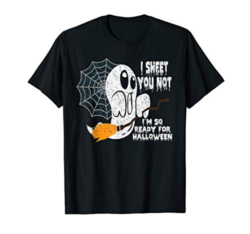 Vorfreude Auf Halloween Geister Hexe Kostüm Spruch Geschenk T-Shirt (Lustige Halloween-friedhof Sprüche)