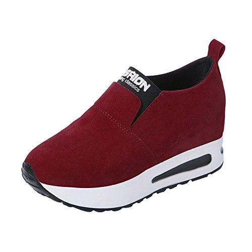Lucky Mall Frauen Mode Herbst Wild Schuhe Versteckte Ferse Schuhe, Slip-on Freizeitschuhe
