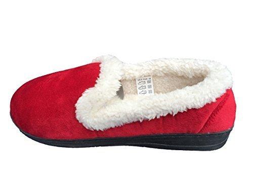 Jyoti , Chaussons pour femme Rouge - rouge