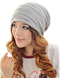 Demarkt Damen Herren Unisex Fashion Winter Stricken gehäkelt Wolle Ski Slouch Long Beanie Mütze Kappe Hut