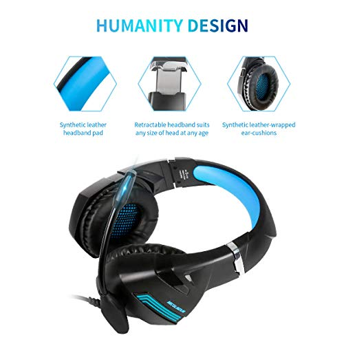 ... Microfono Bass Stereo e Controllo Volume Gaming Headset per PS4  pro Xbox One X S Nintendo Switch PC Laptop Tablet. Visualizza le immagini 12560df9b972