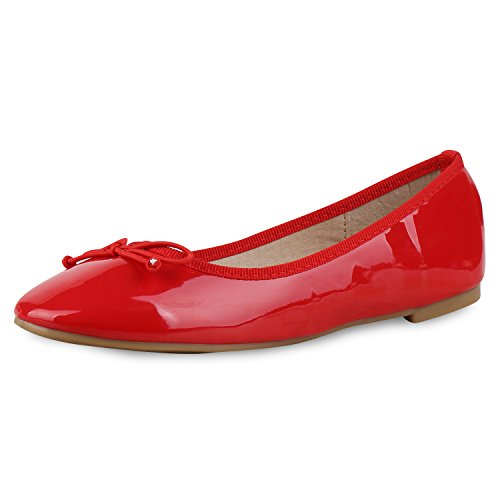 napoli-fashion - Ballerine Donna Vernice, rosso