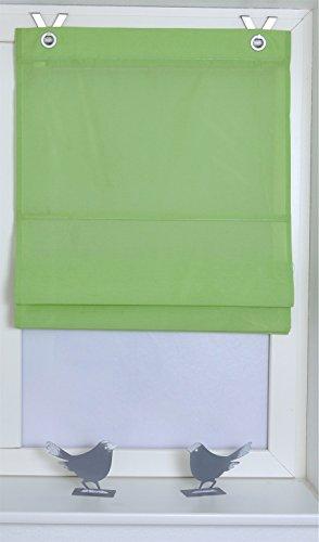 Estor plegable Kessy Bessy verde con ojales y ganchos, 100 * 140 cm