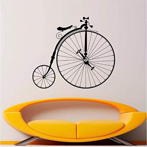 eber Antike Fahrrad Aufkleber Wand Vinyl Aufkleber Sport Bike Home Schlafzimmer Dekor Murales Riesenräder Fahrrad Dekorationen 66X57 Cm ()