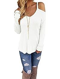 Mujeres Top T camisa de manga larga hombro suelta - Koobea