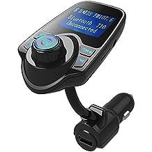 Sunvito trasmettitore Bluetooth FM, kit da auto per le chiamate