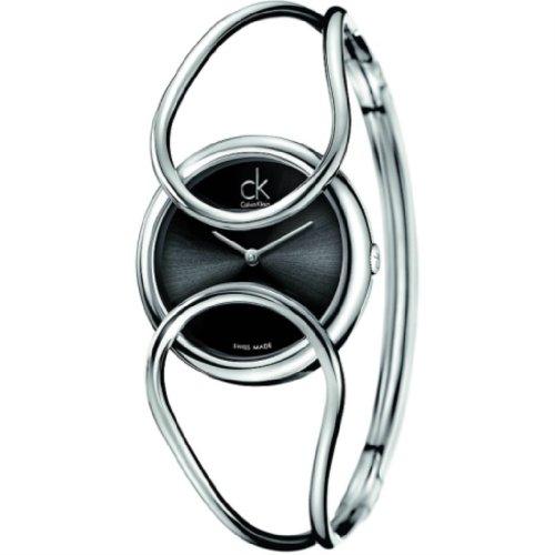Calvin Klein Damen-Armbanduhr Analog Quarz Edelstahl K4C2S111