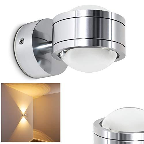 LED Wandleuchte Indore mit tollen Lichteffekten - Wandspot für das Wohnzimmer - LED Badezimmerlampe IP44 - Wandstrahler aus Metall mit 600 Lumen und 3000 Kelvin -