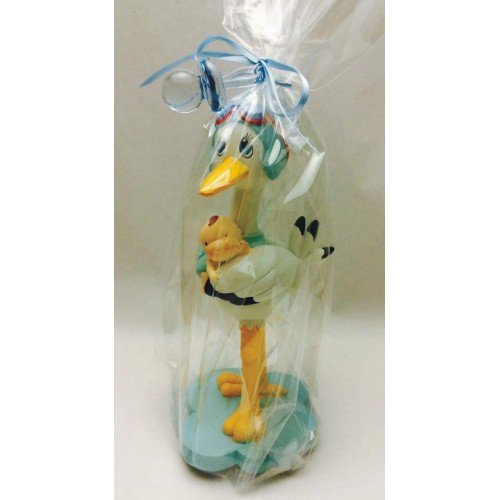 Figure christening child stork tart ENGRAVED PERSONALIZED figures