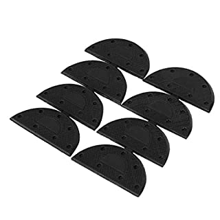 sourcingmap Rubber Shoes Boots Sole Heel Guard Taps Repair Pads 8pcs Black