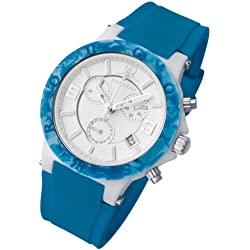 Rougois Pop Series Blue Colorful Silicone Band Watch