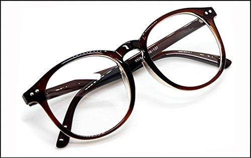 Interesting®Runde klare Linsen Brillen Brillenfassungen Kostüm Brille - braun