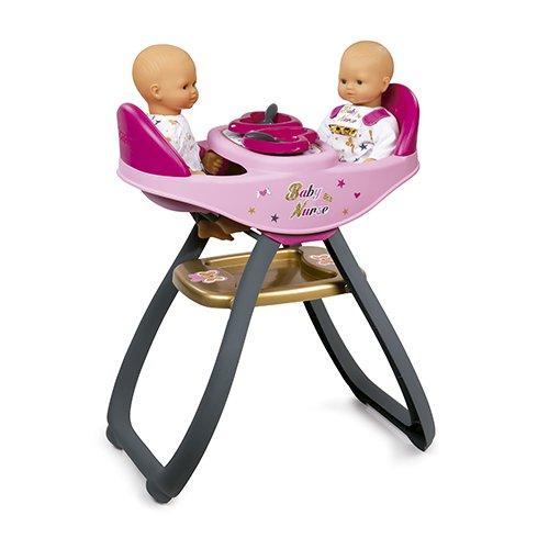 Preisvergleich Produktbild Smoby 220315 Baby Nurse Zwillingspuppen Hochstuhl