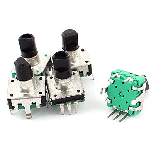 sourcingmap® 5pcs Rotary Encoder Push Button Switch Electronic Components Test